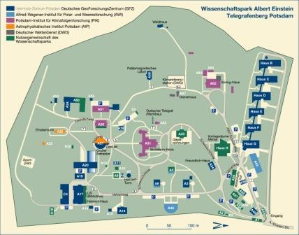 """Campusplan Wissenschaftspark """"Albert Einstein"""""""